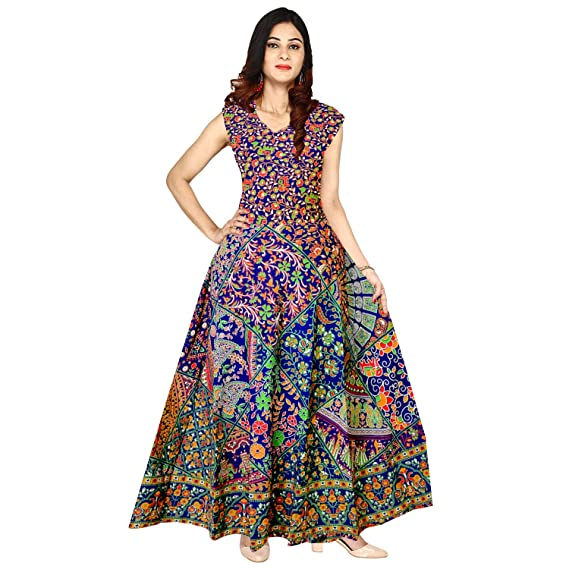 7cc62f873e Mudrika Women's Cotton Party Wear Semi-Stitched Fabric: Amazon.in: Clothing  & Accessories