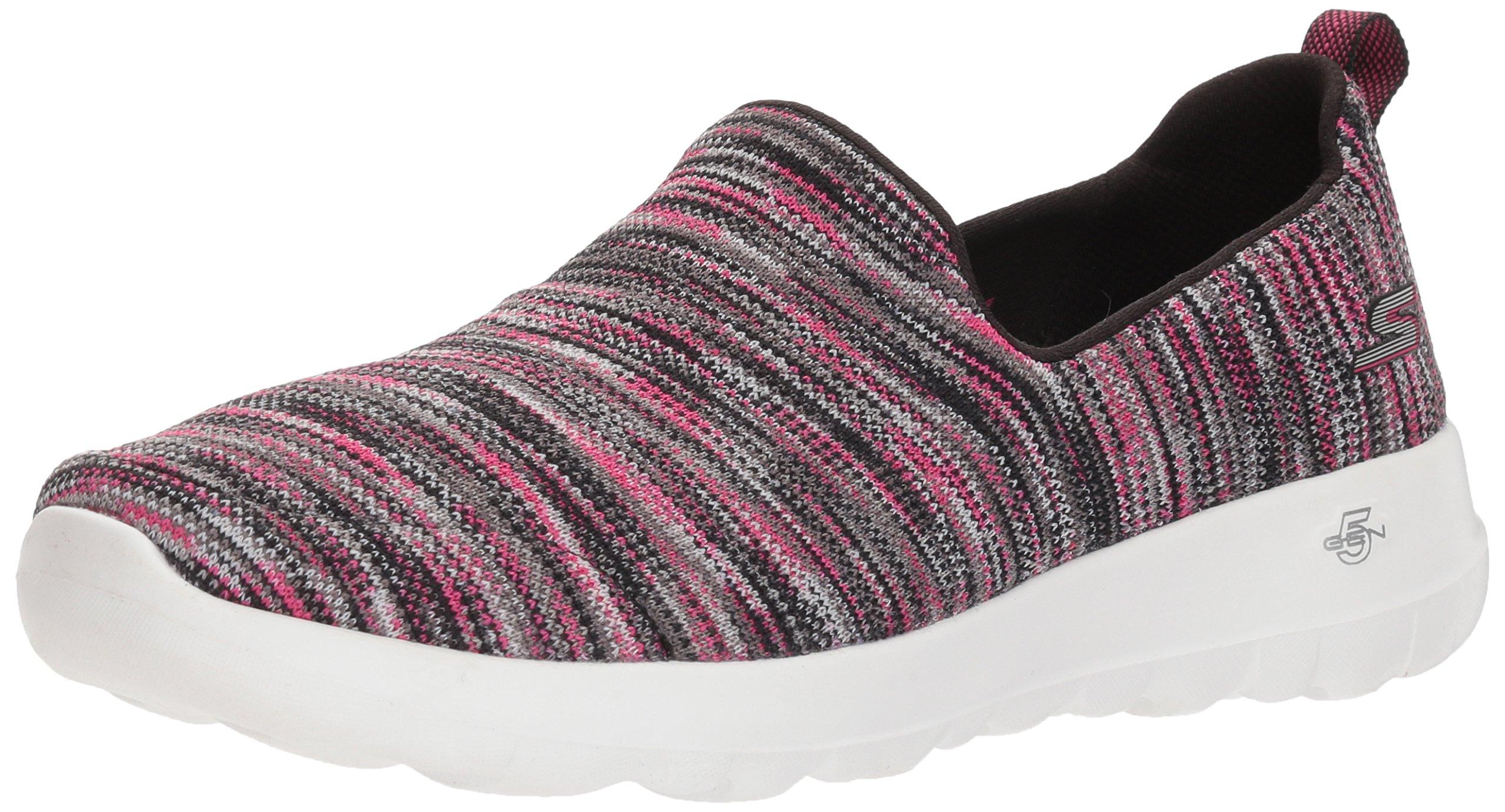 Skechers Performance Women's Go Walk Joy-15615 Sneaker,Black/Pink,7 M US