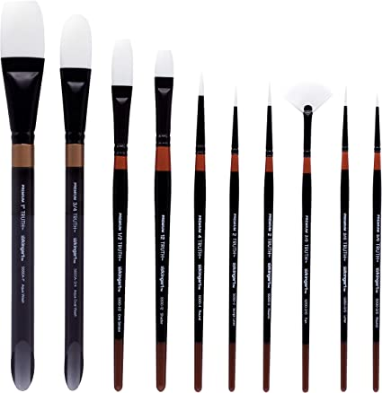 Major Brushes Assorted Sables Brushes Set of 5
