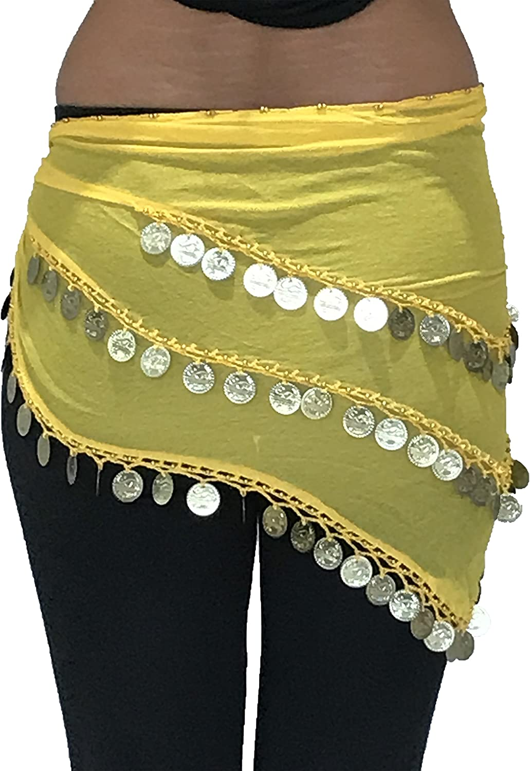 ADULTE TAILLE 8-18 BEAU Triangle Jingly Shimmy Belly Dancing Coin Hanches Ceintures Echarpes