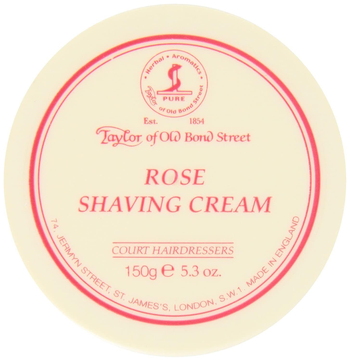 Taylor of Old Bond Street Rose Shaving Cream Bowl, 150 Gram Spicy World of USA Inc 01004