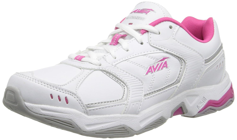 Avia Women's Avi-Tangent Training Shoe B00FYG490M 9.5 B(M) US|White/Pink Scorch/Chrome Silver