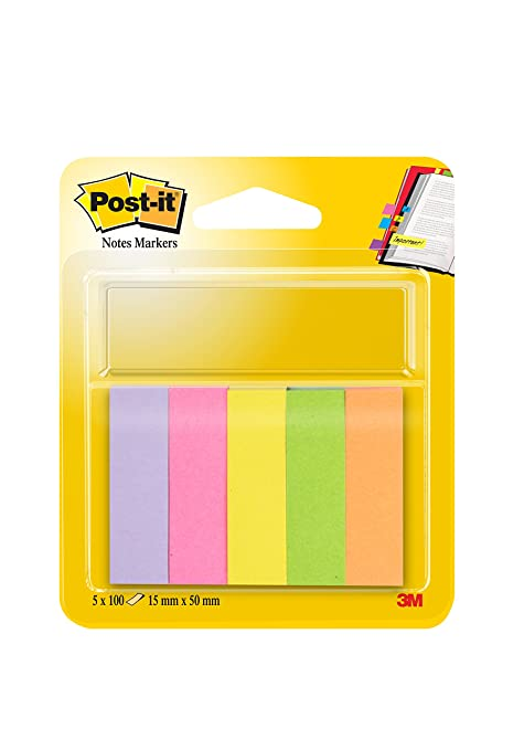 10 opinioni per Post-it Index Markers confezione da 5 pezzi- 15 x 50mm