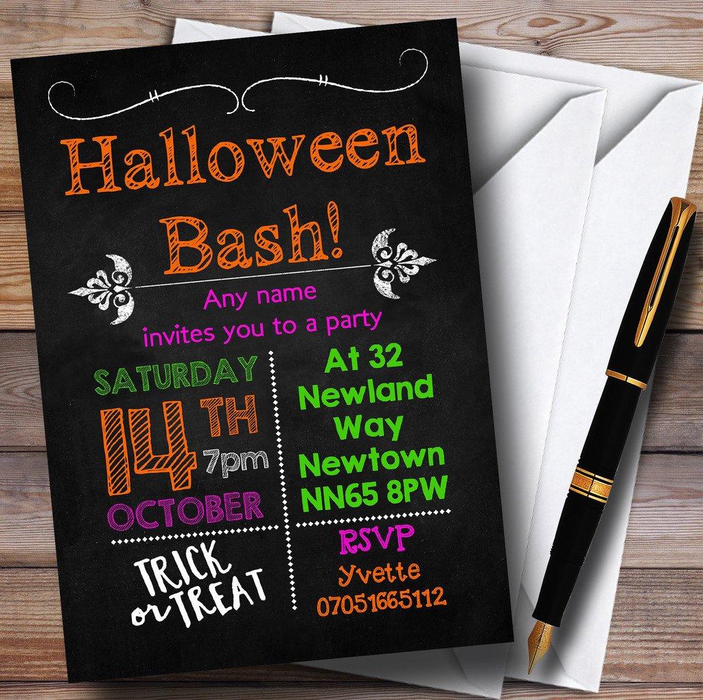 Gesso coloreata di inviti per feste di Halloween,