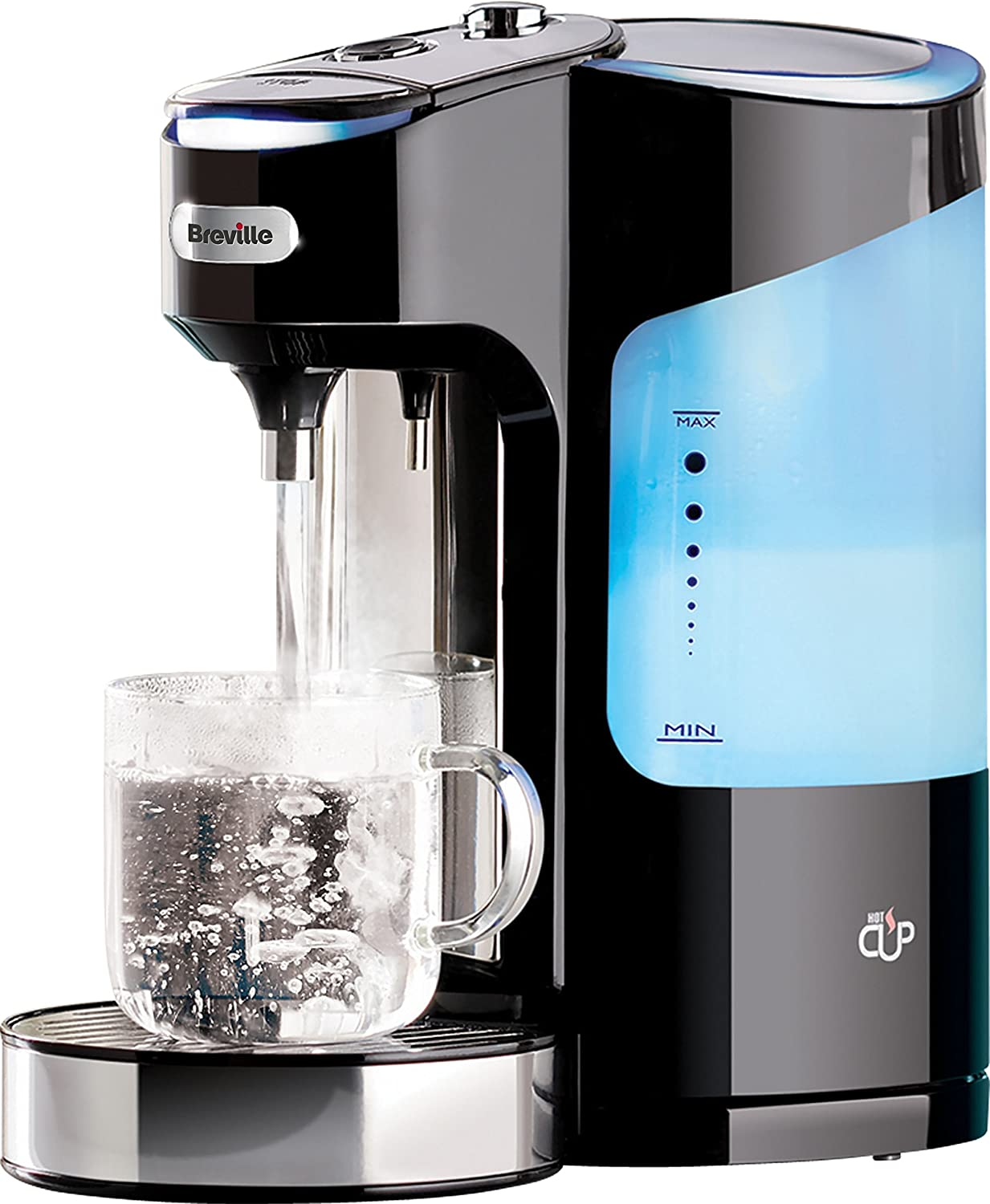 Breville HotCup Hot Water Dispenser with 3 KW Fast Boil and Variable Dispense, 2.0 Litre, Gloss Black [VKJ318]