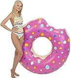 Kangaroo's Two-Bite 4' Giant Donut Inner Tube, Pool Float