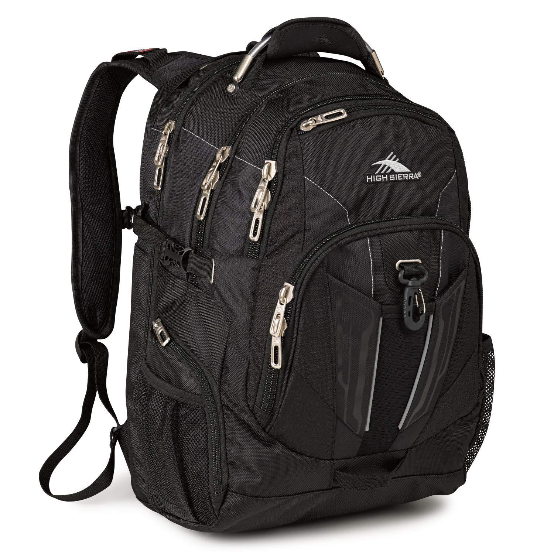 60a2d637bc0 Amazon.com: High Sierra XBT TSA Laptop Backpack, Black: Sports ...