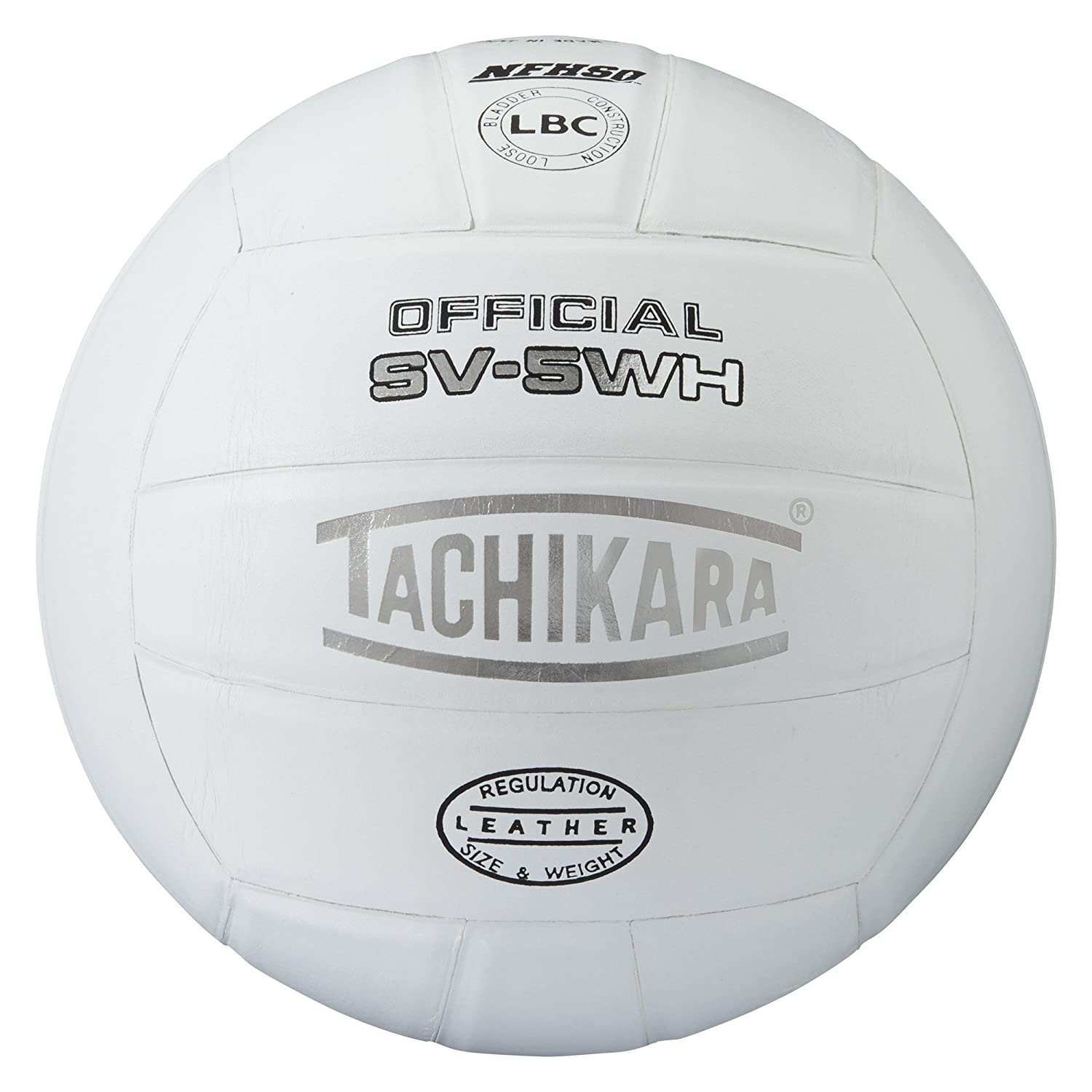 Tachikara SV5WH Concours International de cuir de qualit- sup-rieure Volleyball - Blanc B00099YIZ0
