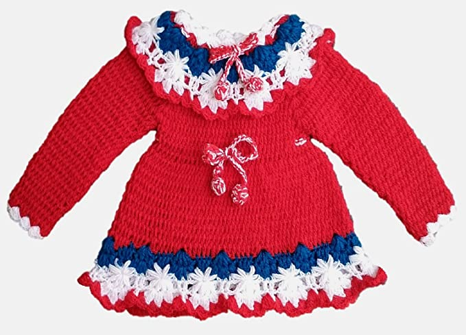 8c7cfa0e9 PMG Baby girl s Woolen Sweater Frock for 6-12 months baby girls ...