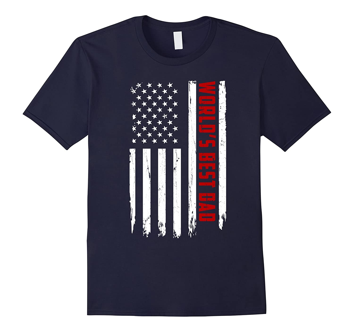 American Red World's Best Dad Flag Shirt Father's Day Gift