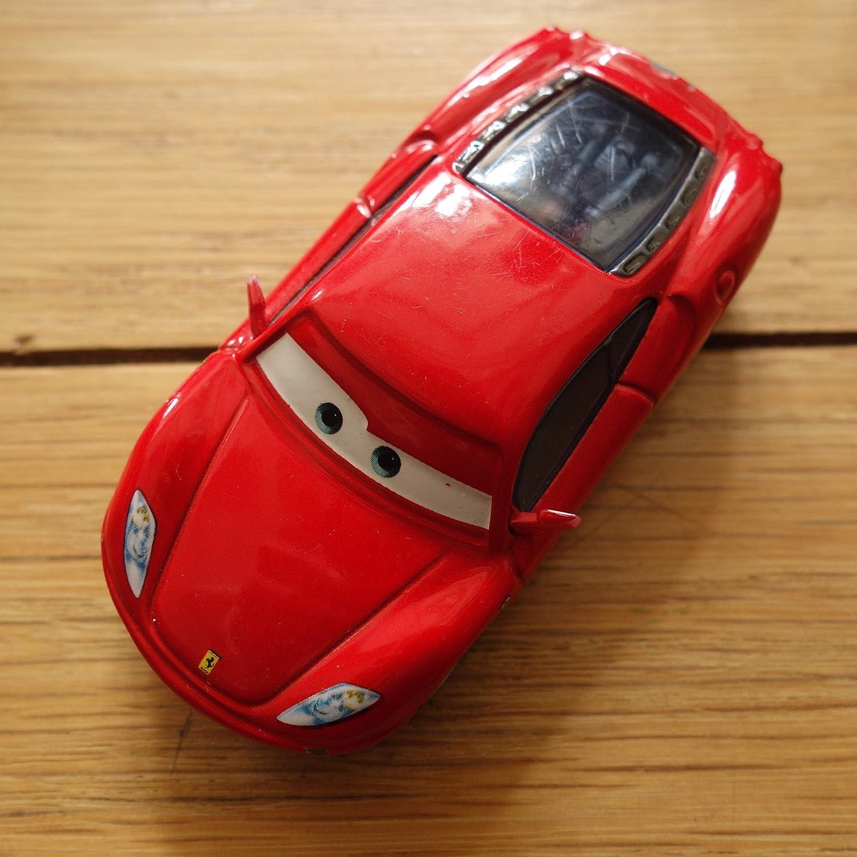 Disney Pixar World Of Cars Edition Michael Schumacher With Ferrari F430 Car 1 55 Scale Mattel By Mattel Amazon De Spielzeug