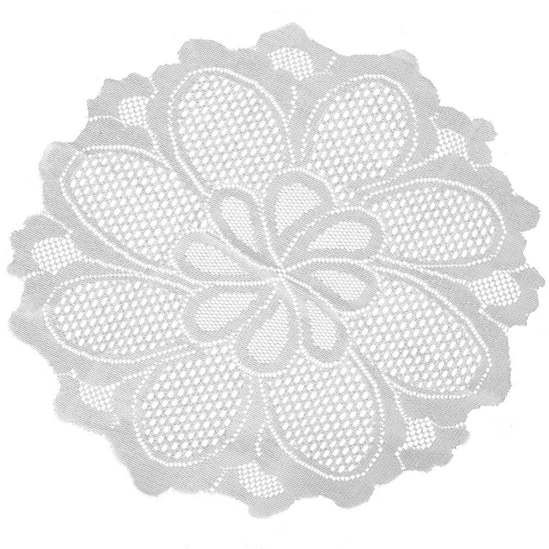 Home-X Floral Lace Table Doily, Perfect for Parties and Daily Use, Cream (24
