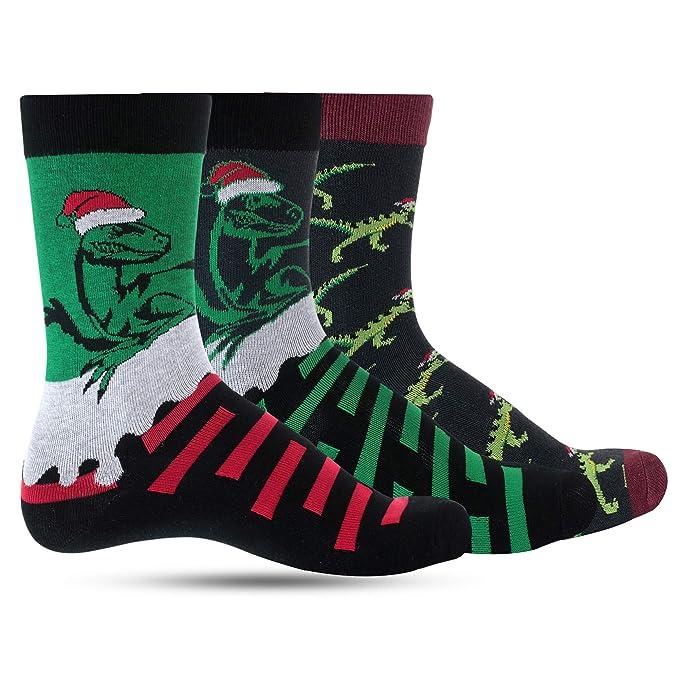Boys Christmas Socks.Dino Christmas Socks For Boys Crazy Dinosaur Socks For Kids Boy Funny Cool Funky Colorful Holiday