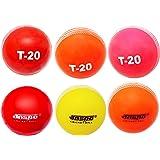 Jaspo T-20 Multicolor (Six PC.) Cricket Ball