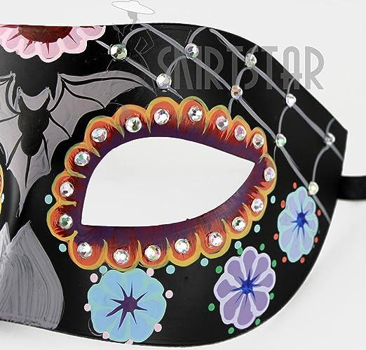 Bauer Women/'s Day of the Dead Dia de los Muertos Mask Black//Multi