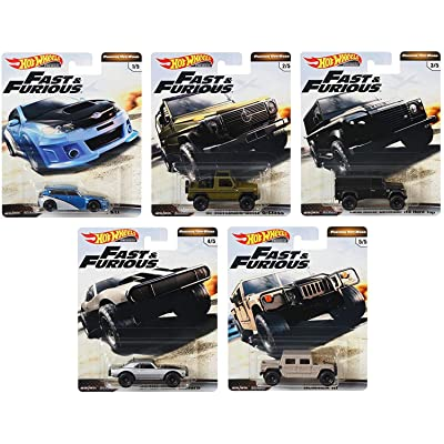 Hot Wheels 2020 Premium Fast & Furious Off-Road Set of 5: Toys & Games