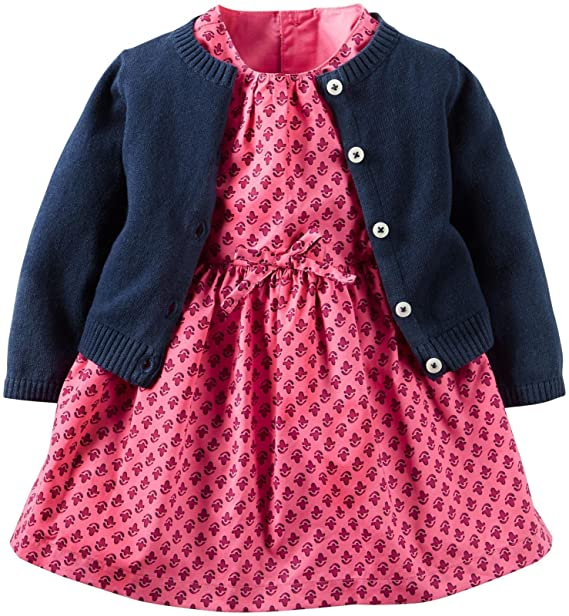 Amazon.com: Del Carter bebé vestidos de niña Sets, 24 meses ...