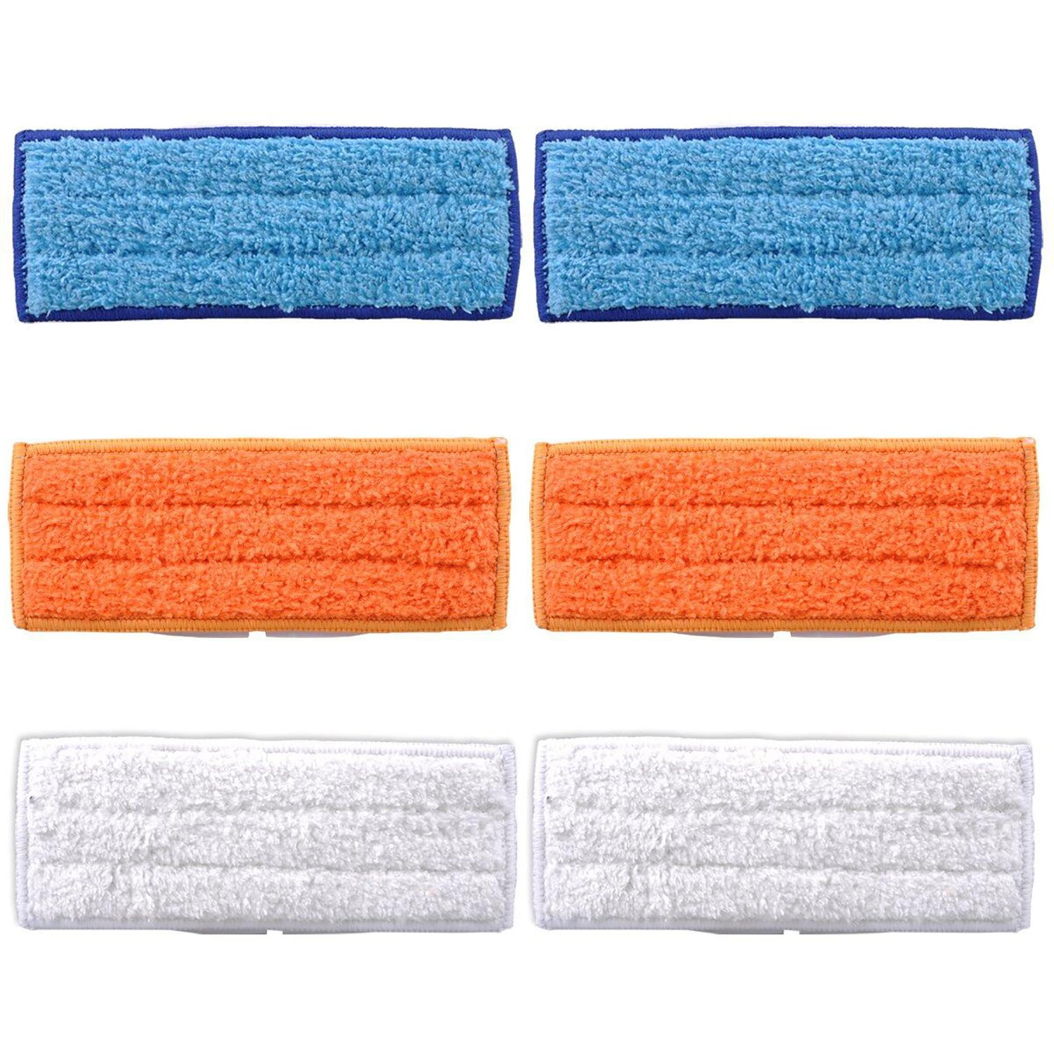 MarlaMall 6 Pack Washable Mopping Pads Wet Damp Dry Sweeping Pads for iRobot Braava Jet 240 241 Robot Accessories