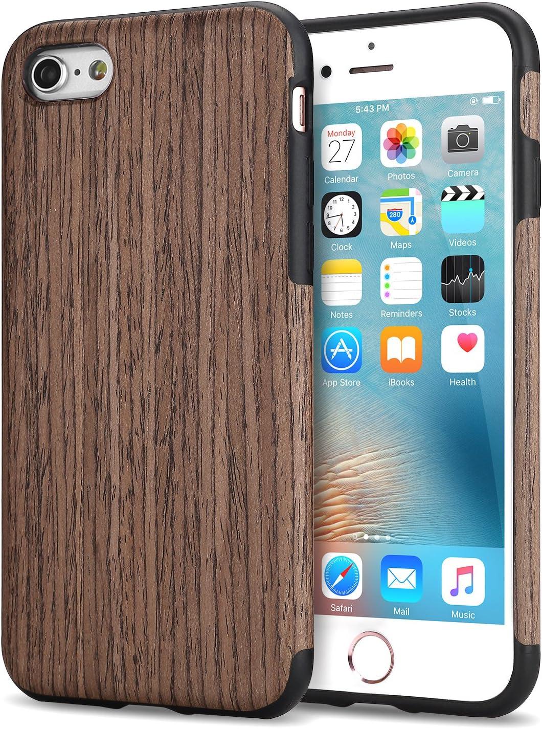 TENDLIN Funda iPhone 6s Grano de Madera Silicona TPU Híbrido Suave ...