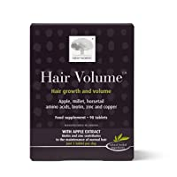 New Nordic Hair Volume, 90 Tablets Hair Growth Supplement, Biotin and Naturally Sourced Ingredients, Helps Reduce Hair Shedding