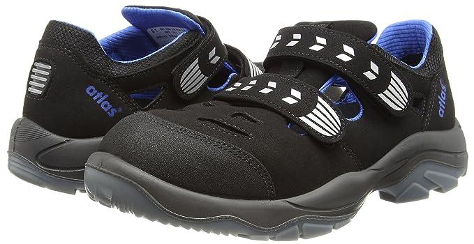uk Atlas Safety Shoes co Men's BlackBlackAmazon Black WEDH29YI