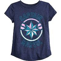 Jumping Beans Little Girls' 4-12 Captain Marvel Shield Tee