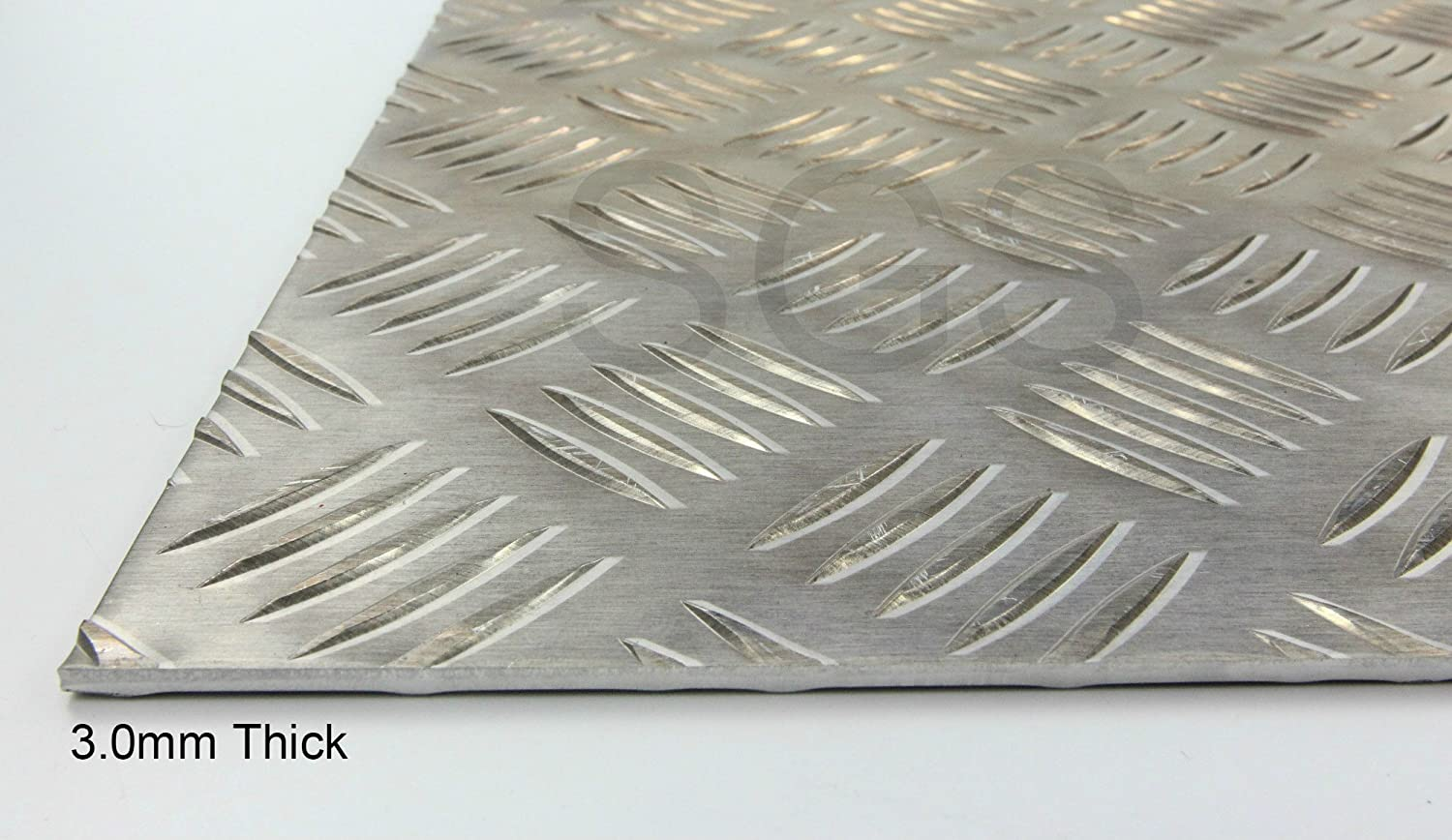 3.0mm Thick Aluminium Chequer Plate - 23 sizes to choose from (150mm x 150mm) SGS