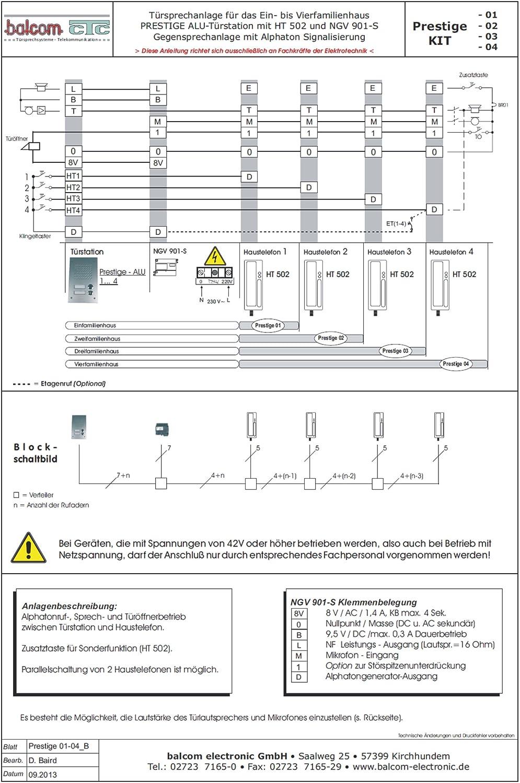 Türsprechanlage Prestige-KIT 01 weiß/weiß Balcom-CTC: Amazon.de ...