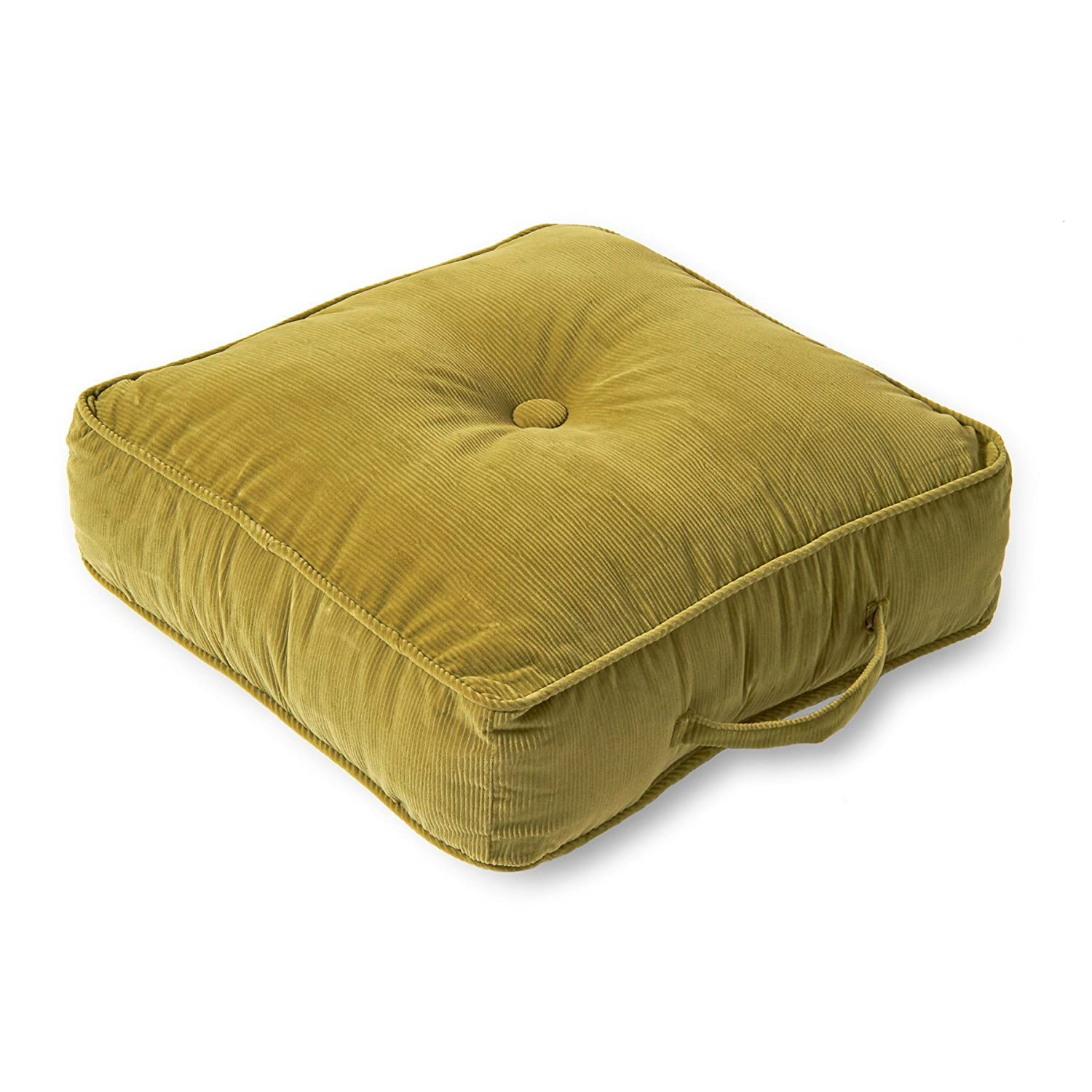 Greendale Home Fashions 20-Inch Square Floor Pillow Omaha/Amigo fabric, Bitter 5183 - Bitter