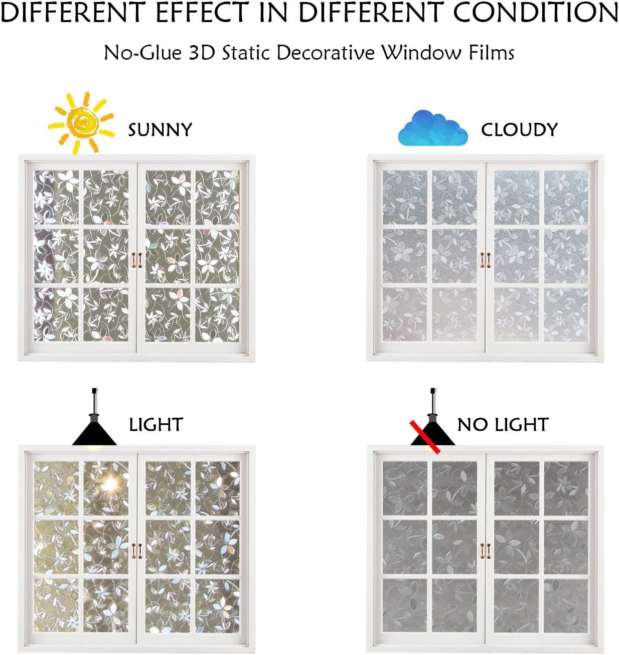 CottonColors Film Adhésif Décoratif pour Fenêtre Vitrage 18D