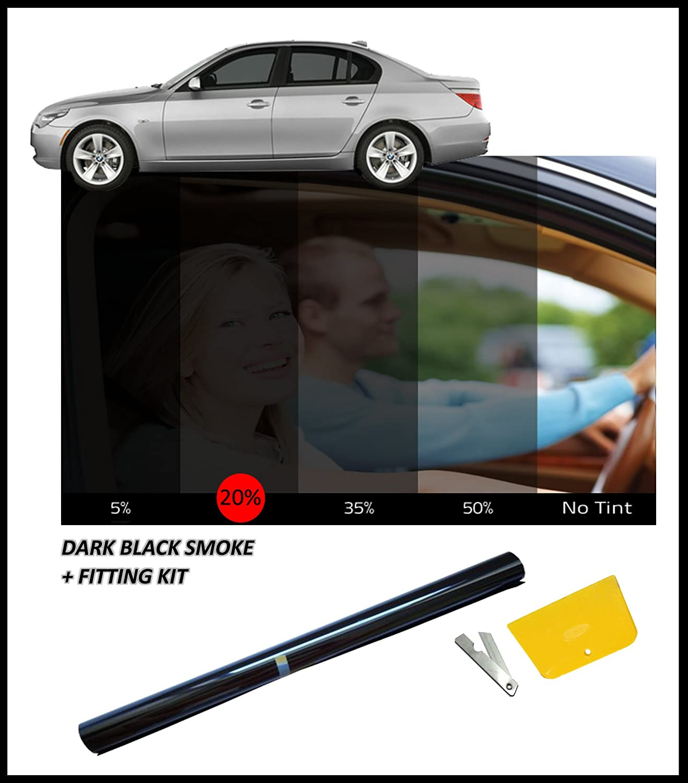 DARK BLACK CAR WINDOW FILM TINT 15/% 76cm x 3M