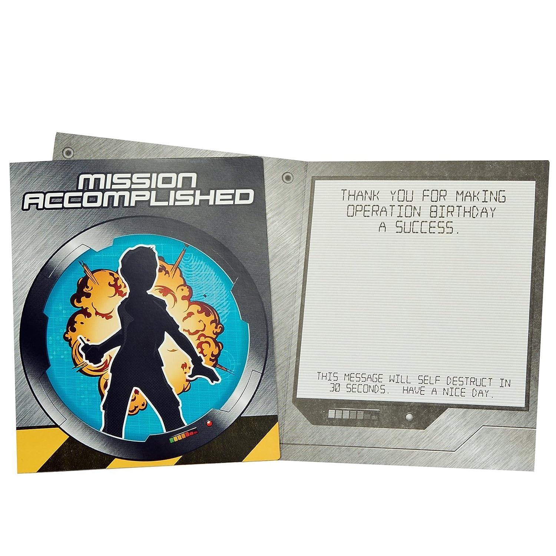 Amazon.com: Secret Agent Spy Party Supplies - Thank-You Notes (8 ...
