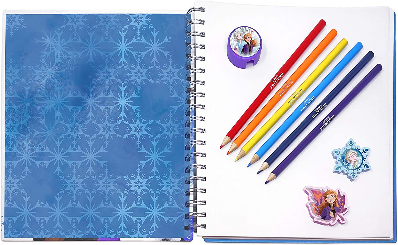 Disney Frozen II Sketch Kit with Sketchbook Mini Notebook /& Colored Pencils NEW