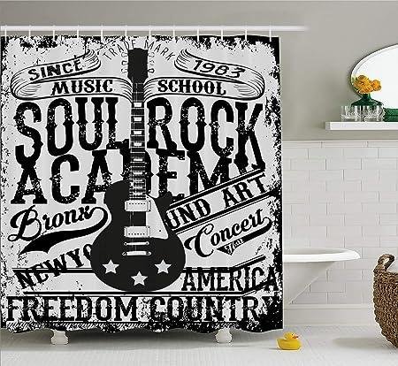vrupi Cortina Ducha Estilo Retro Soul Rock College Tema música ...