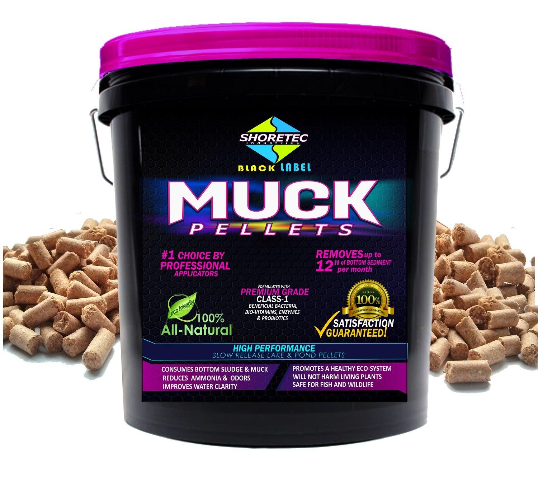 Shore-Tech Industries Black Label MUCK Pellets Commercial Grade Class-1 Bacteria Enzymes Probiotics Bio-Vitamins (3 lb)