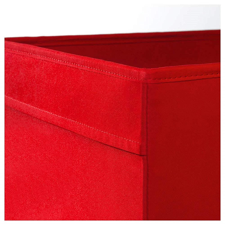 2 Pack Red Ikea Drona Foldable Storage Box
