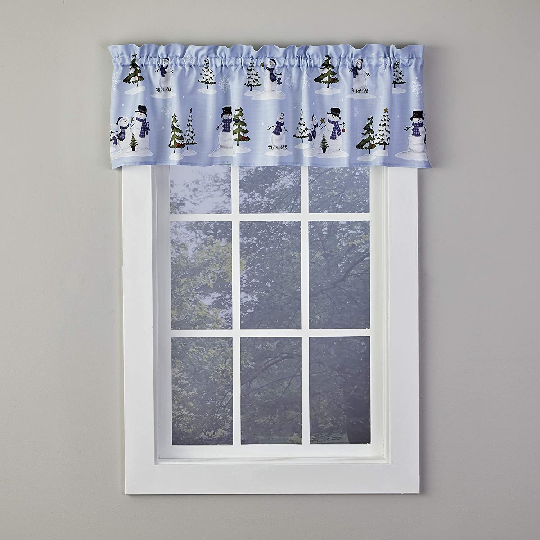 SKL Home by Saturday Knight Ltd. Wonderland Winter 13 Inch Valance, Blue