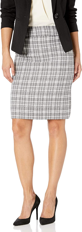 Tahari ASL Womens Petite Double Back Vent Pencil Skirt