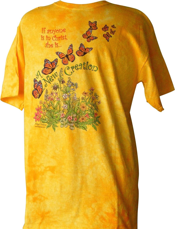 Wise tintes amarillo Tie Dye cristiana de adultos camiseta – Nueva Creación