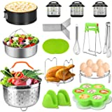 Accessories for Instant Pot 5,6,8 Qt,PECHAM Pressure Cooker Accessories Set Including 2 Steamer Baskets/Springform Pan/Stacka