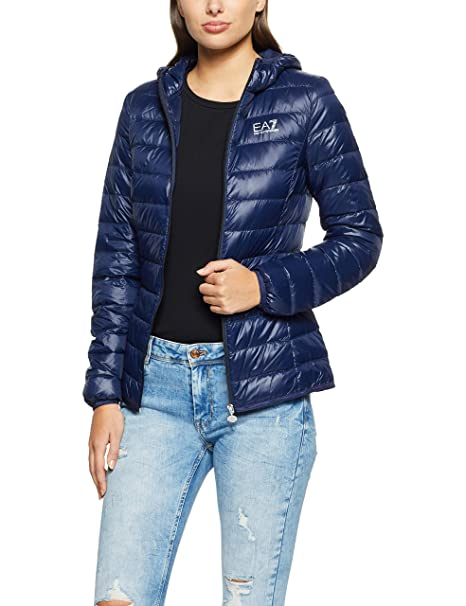 5b85e0f2 EMPORIO ARMANI Womens Ea7 Logo Down Jacket in Navy