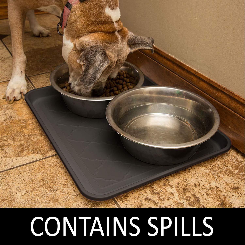 Amazon.com: Bandeja de comida para mascotas, Colchoneta para ...