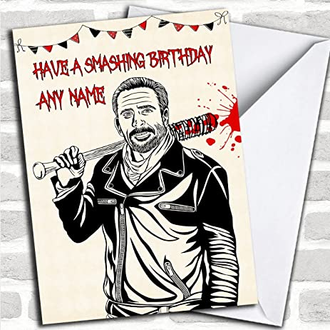 Amazon Killer Negan The Walking Dead Personalized Birthday