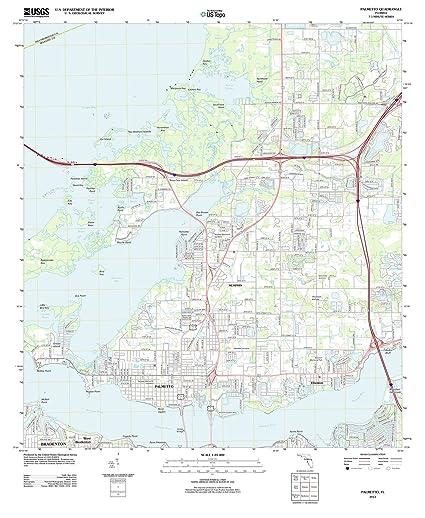 Palmetto Florida Map.Amazon Com Florida Maps 2012 Palmetto Fl Usgs Historical