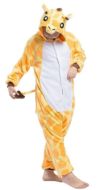 Pijama Jirafa Niño Niña Animal Cuerpo Entero Mujer Familiar Navidad Halloween Disfraz