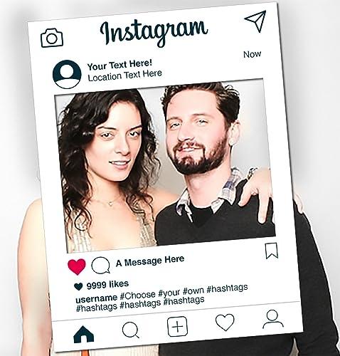 New Instagram Social Media Personalised Selfie Frame Party Prop 59cm