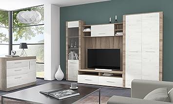 VENECIA Modern Living Room Furniture Set Tv Unit 2 Door Wardrobe Glass Display With