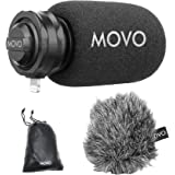 Movo LPM100 MFi Certified Lightning Directional Stereo Cardioid Microphone Compatible with iPhone, iPad, iPod, iOS Smartphone