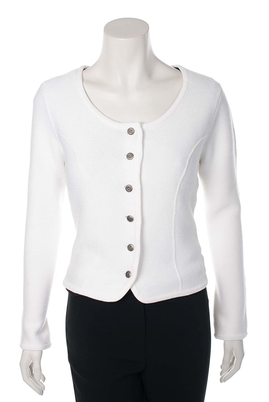 Damen Trachten Strickjacke - BOZEN - weiß
