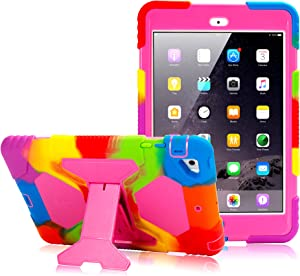 iPad Mini Case iPad Mini 2 Case iPad Mini 3 Case Heavy Duty Shockproof Protective Rugged Slim Cover for 7.9 Inch iPad Mini 1 2 3 - Pink